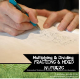 Multiplying and Dividing Fractions Flippables (foldable)