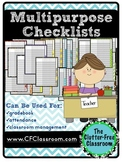 Multipurpose Checklists for Classroom Management {gradeboo
