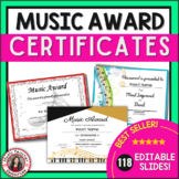 Music Award Certificates *editable*