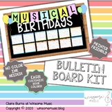 Music Bulletin Boards - Composer and Musician Birthdays