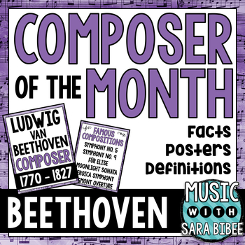 Music Composer of the Month: Beethoven- Bulletin Board Pack