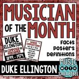 Music Composer of the Month: Duke Ellington Bulletin Board Pack
