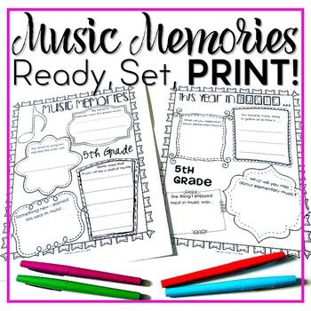 Music Memories {EDITABLE Ready Set Print!}