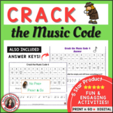 Music Puzzles: Crack the Music Code (North American terminology)