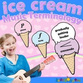 Music Terminology Set - Ice Cream Cones