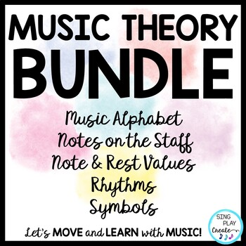 Music Theory Note Values *I Can's *Rhythms Levels 1-2-3