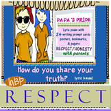 Critical thinking cards  - parent respect/ honesty