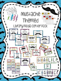Mustache Themed Library Media Center Pack {NOW with EDITAB