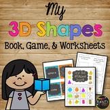 My 3-D Solid Shapes Book, 3D Kindergarten, First, & Second Grade