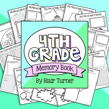 4th Grade End of the Year Memory Book