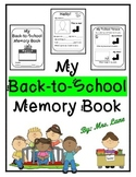 My Back-to-School Memory Book