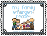 My Family Emergent Reader