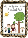 My Family/ Mi Familia Preschool Pack