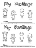 My Feelings Emergent Reader for Kindergarten..All About Me theme