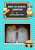 My First Day Back at School  ~ A Back to School Craftivity