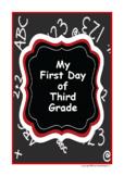 My First Day in Third Grade Poem