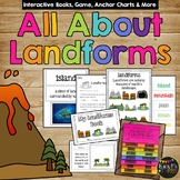 All About Landforms Book- Real Pictures & Clip Art Version
