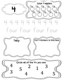 My Number Book 1-10: Printing Practice/Number Recognition