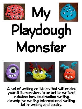 My Playdough Monster: Writing Activities for Your Little Monsters