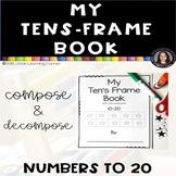 My Ten's Frame Book 11-20 Common Core Base Ten