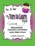My Turn to Learn QR Code Task Cards - Measurement: Customa