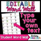 (Editable) Word Wall: Individual Student Word Walls