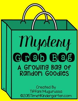 Mystery Grab Bag, growing bundle, TpT Kindergarten