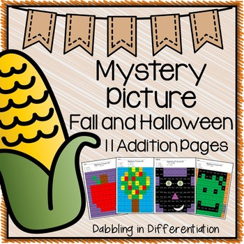 Fall and Halloween Mystery Picture {9 Addition Pages}