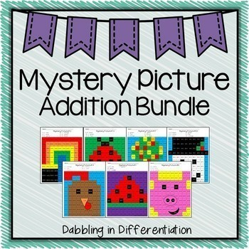 Mystery Picture Year Long Growing Bundle {31 Addition Pages}