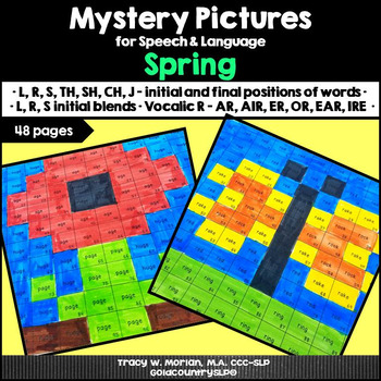 Mystery Pictures for Speech & Language Spring