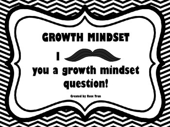 NEW  Growth Mindset Cards FREEBIE!