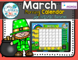 NEW!! MIMIO Calendar Math- March (English)