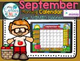NEW!! MIMIO Calendar Math- September (English)