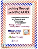 NEWSPAPER Basics & Journalism:  Looking Through a Newspaper