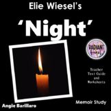 NIGHT- Elie Wiesel Literature Worksheets for teachers -