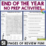 NO PREP End of the Year Reading & Writing Packet: {Grades 2-6}