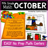 NO PREP MATH Centers for October {4th Grade}