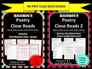 NO PREP Poetry Close Read Bundle