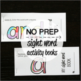 40 NO PREP Sight Word Activity Books