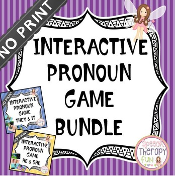 NO PRINT Interactive Pronoun Game Bundle