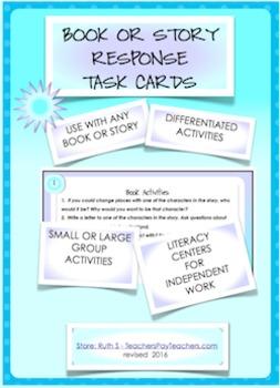 NOVEL RESPONSE TASK CARDS