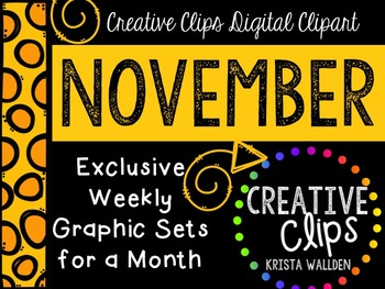 NOVEMBER 2015 Graphics Club {Creative Clips Digital Clipart}
