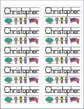 Name Labels Type in Schoolhouse Font-Multipurpose Set 1