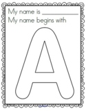 Name Posters - Decorate Initial Letters