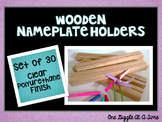 Nameplate Holders (Wooden/Clear Polyurethane Finish)