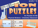 Ionic Compound Puzzles: Naming Compounds and Writing Chemi