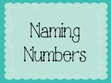 Naming Numbers Math Game
