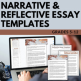 Narrative Essay and Reflective Essay Templates - Fill-in-t