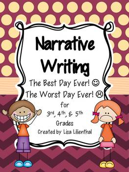 Narrative Writing ~ The Best Day Ever/The Worst Day Ever {Common Core}