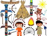 Native American, indian,Clip Art - PNG,EPS-Digital Clip Ar